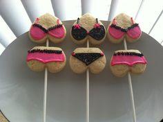 lingerie heart cookies.
