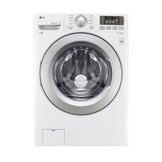 LG TWINWASH Compatible 4.5-cu ft High-Efficiency Stackable Front-Load Washer (White) ENERGY STAR