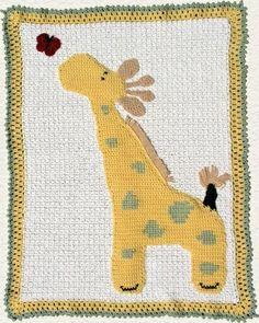 Cute giraffe blanket - pattern $4.50