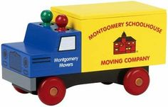 """Classic Moving Truck by Maple Landmark Woodcraft. Save 31 Off!. $36.07. Crafted in the USA from hardwood maple.. All colors and details are done with non-toxic paints and finishes.. Each truck weighs about 3 pounds and is 9"""" long, with many removeable parts.. Comes boxed for easy wrapping and gift giving.. Ages 3 and up. Our Classics are crafted from New England hardwood maple making them a truly durable truck! Our bright yellow moving truck has a removable cover for great storag..."""