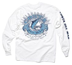 NWT Costa Del Mar Born On Water T Shirt /& Hat Combo Men/'s M L XL Red Blue Khaki