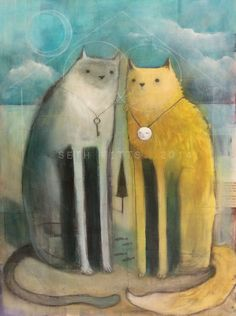 Two Cats, Together by SethFitts.deviantart.com on @DeviantArt