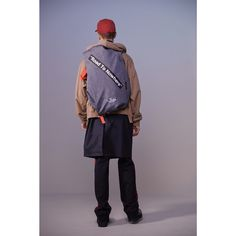 "Featuring ""Road to Nowhere"" graphic and bright red webbing straps. Futuristic Design, Grey Fashion, Bradley Mountain, World Of Fashion, Collaboration, North America, Fashion Backpack, Gray Color, Bring It On"