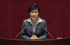 POWERFUL WOMEN: NINE WHO RULE THE WORLD | Part 1 GEUN-HYE PARK | President, South Korea | Park Geun-hye has had a tense year since being elected as South Korea's first female president in 2013. In April the Sewol ferry disaster left over 300 people, mostly high school students, dead or missing, prompting her prime minister to take the fall and quit. Park has been busy meeting her fellow world leaders... © Chung Sung-Jun/Getty Images