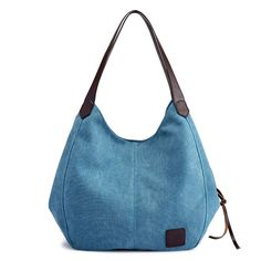 Women Quality Canvas Three Layer Large Capacity Casual Vintage Handbag Shoulder Bag