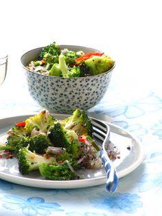Broccoli Upperi by plateful: Warm, Aromatic Broccoli Salad. 10 minutes. #Salad #Broccoli #Healthy