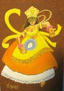 Oxum ( inspiration for washi doll or Orishas)
