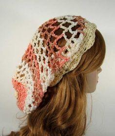 Striped Openwork Rasta Hat by joyfulgabby - Crochet Beret, Crochet Hooks, Knitted Hats, Slouch Hats, Crochet Braid, Slouchy Beanie, Yarn Dreads, Hippie Crafts, Crochet Clothes