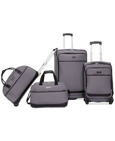 46a20c0b5558 Jessica Simpson Capri 4 Piece Luggage Set Luggage - Luggage Sets - Macy s.  Take a picture of your bag bags.