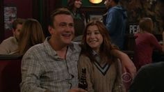 These 23 epic TV couples remind us all that true love really is possible. Page 3 Tv Show Couples, Best Tv Couples, Best Couple, Lily Aldrin, Marshall And Lily, Himym, Parks N Rec, How I Met Your Mother, True Love