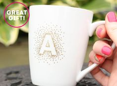 DIY: gold monogram mug - The Sweet Escape Creative DIY Blog