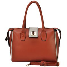 VK Women's Bag With Metal Buckle And Long Zipper - Brown Metal Buckles, Zipper, Handbags, Brown, Fashion, Totes, Moda, La Mode, Fasion