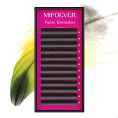 mifoever 1 pc 0.07 JBCD Curl 12 Rows Per Tray Volume Eyelash Extension Mink False Fake Lashes