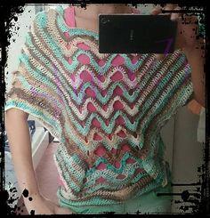 Slucne3 / tunika,  ponco, crochet, poncho, sweater, tunic