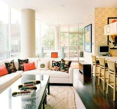 Living room interior inspiration with rugs
