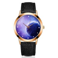 Cheap horloge watch, Buy Quality horloge band directly from China horloge woman Suppliers: Relogio masculino Women Fashion Starry Sky PU Leather Band Analog Quartz Round Wrist Watch Watches Horloge Eclipse Watch, Bracelets Roses, Mode Rose, Women's Dress Watches, Leather Wristbands, Valentines Jewelry, Watches For Men, Women's Watches, Wrist Watches
