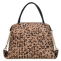 US$17.99 Morden Full Lepord Print Large Capacity Lady's ToteLargeShoulder Bag. #Bags #Print #Full #Lady's