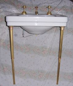 "Bathroom Sinks Nottingham 24"" nottingham console sink with brass stand - console sinks"
