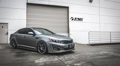 Kia after modification and/or restoration by TAG Motorsports. Visit this section to see stunning photos with complete step by step build photos. Kia Optima Turbo, Kia Optima K5, Custom Wheels, Custom Cars, Bbs Wheels, Kia Motors, Car Goals, Nissan Skyline, Transportation Design