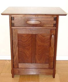 <3 arts and crafts style nightstand