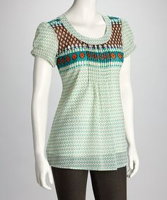 Take a look at this Birch Scoop-Neck Top by Blue Plate on #zulily today!