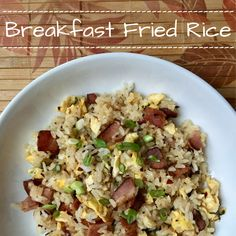 Breakfast Fried Rice (Soy Free)