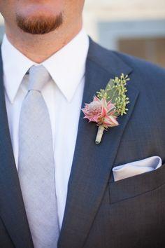 grey and navy groom look #groom #groomattire #weddingchicks http://bit.ly/1hIzW7C