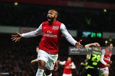Thierry Henry of Arsenal celebrates scoring during the FA Cup Third Round match between Arsenal and Leeds United at the Emirates Stadium on January 2012 in London, England Leeds United, Manchester United, Thierry Henry Arsenal, Ruud Van Nistelrooy, Premier League Highlights, Rio Ferdinand, Fa Cup, Man United, Scores