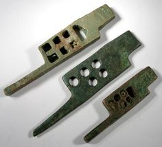 Ancient Roman bronze key door-lock bolts. 1st-3rd century AD.