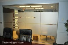 frosted vinyl conference room windows - Google Search