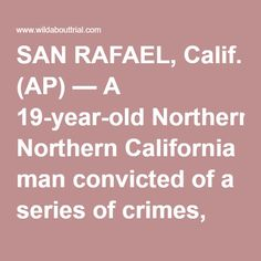 SAN RAFAEL, Calif. (AP) — A 19-year-old Northern California man convicted of a series of crimes, including attempted murder and the theft of a celebrity chef's Lamborghini, has been sentenced to life in prison, plus 21 years and four months. Max Wade was sentenced Thursday after being found guilty in October of attempted murder, vehicle theft and other crimes. He was charged as an adult even though he was under 18 at the time the crimes were committed. Among Wade's crimes was a drive-by…