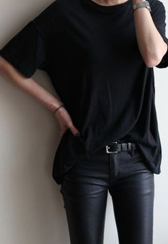 Try tucking the front of your tee or shirt into your jeans for extra eye-catching detail on the simplest of outfits. I find skinny jeans and oversized T-shirts work best for this. http://asos.to/1mfdjFs http://asos.to/1mfdCQw