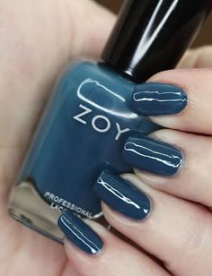 Zoya Nail Polish in Lou from the Luscious Collection  Swatches Blue Lipstick, Zoya Nail Polish, Let It Shine, Nice Nails, Blue Makeup, Beauty Review, Holiday Nails, Lifestyle Blog, Swatch