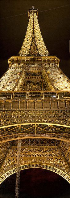 Eiffel Tower in gold