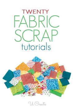 Make any of these projects using scraps in a jiffy! Twenty fabric scraps sewing tutorials for your inner fabric hoarder. You will love this roundup...it's a great way to get scrap-busting!