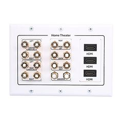 Stereo Speaker Wire Wall Plate White RCA AH300WHR speakers