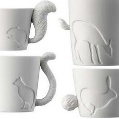 Animal Mugs! i love them. but only when the animal is somehow part of the mug or the entire mug. not just painted on.