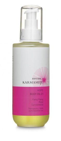 Hope bodyolie fra 100% serien Karmameju
