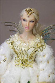 OOAK fantasy FAIRY fae Christmas tree topper angel art doll by Kate Sjoberg