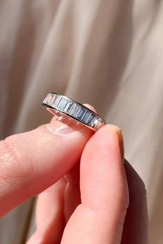 Vintage Art Deco eternity band channel-set with 33 carre-cut diamonds weighing approximately carats. Set in platinum. The band is mm wide. Ankle Bracelets, Jewelry Bracelets, Jewelery, Gold Mangalsutra Designs, Art Deco, Sapphire Bracelet, Deco Engagement Ring, Eternity Bands, Necklaces