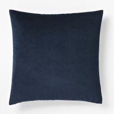 Velveteen Pillow Cover - Ink Blue | west elm