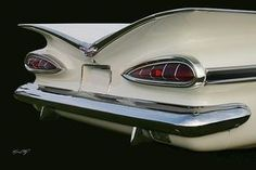 1959 Chevy Impala tail fins - digital image by Kevin Doty