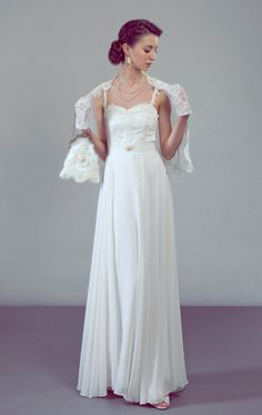 Principessa wedding dress complete bridal by PetiteLumiereCo, $2240.00