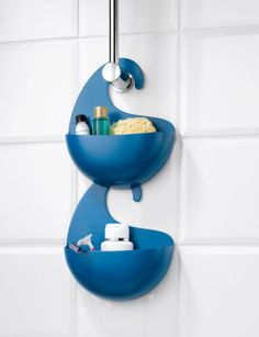 Surf Hanging Shower Caddy at STORE. Fun carryall in the shape of a wave.Perfect for the bathroom. Decoration Surf, Surf Decor, Hanging Shower Caddy, Shower Storage, Hanging Storage, Boy Bath, Kids Bath, Bathroom Shelves, Bathroom Storage