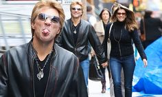 Jon Bon Jovi and wife put on a display of family strength as pair are pictured for first time since daughter's 'heroin overdose'