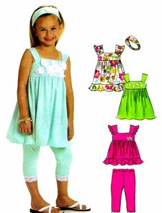 McCalls 6019 Toddler Girls Tops Dresses Sundress by patternshop, $7.99