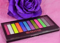 Make up Revolution - eyeshadow - palette - Acid brights - Urban decay Electric dupe - neon eyeshadows - swatches - review - pressed eyeshadow - bargain make up - make up