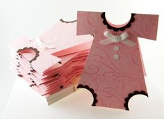 Handmade Baby Girl Onesie Shower Invitations
