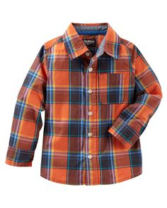 Toddler Boy Plaid Button-Front Shirt from OshKosh B'gosh. Shop clothing & accessories from a trusted name in kids, toddlers, and baby clothes.