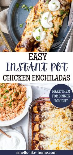These Instant Pot Chicken Enchiladas is the fastest Mexican night enchis meal ever! Make shredded chicken in an instant with a pressure cooker for this flavorful baked dish. These Instant Pot Chicken Enchiladas are faster than traditional chicken enchiladas but just as flavorful! The instant pot chicken is also a wonderful meal prep by itself.
